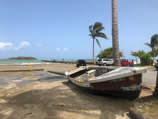 The fishermen of Punta Santiago once had 15 boats in their fleet. Today, after Hurricane Maria ravaged their seaside community, they have just two. (Photo: Rick Jervis)